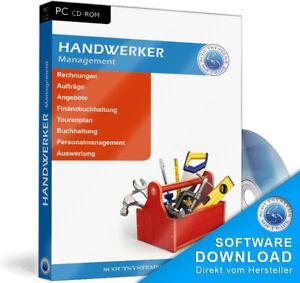 Handwerker Software Programm,Rechnungsprogramm + Buchhaltung, Schnäppchenpreis!