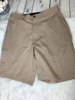 "Men's Ping Golf Shorts Khaki Size 32 Inseam 8"""