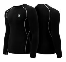 RDX MMA Rash Guard Weight Loss Running Sweat Shirt Mens Compression Gym Wear WJ