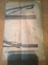John Deere Operator's Manual Vintage Elevator GVC