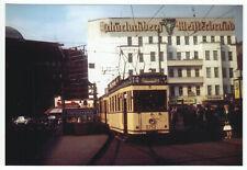 Foto im AK-Format, Berlin Neukölln, Hermannplatz, Straßenbahn, 1963