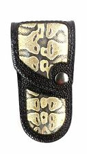 REAL BALL PYTHON SNAKE SKIN knife sheath only buck 110, case 6265 Handmade