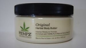 Supre Hempz Original Herbal Body Butter Moisturizer After Tanning Lotion 8oz Jar