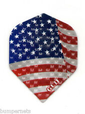 3 New Sets of Viper Dimplex American Flag Standard Dart Flights 9 Total Flights