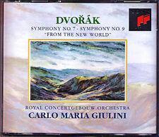 Carlo Maria GIULINI: DVORAK Symphony No.7 & 9 New World SONY 2CD Concertgebouw