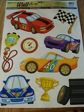 Wallies New - Racing Cars Children Removeable Wall Decor