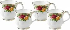 ROYAL ALBERT OLD COUNTRY ROSES 4 x MONTROSE MUGS - NEW/UNUSED