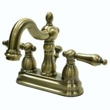 "4"" Centerset Bathroom Sink Faucet Vintage Antique Brass - Kingston KB1603AL"