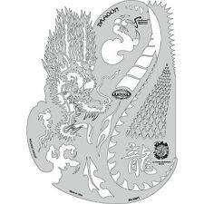 Artool Freehand Kanji Master Dragon Ryu Airbrush Paint Stencil Dennis Mathewson