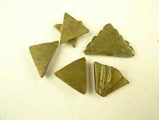5 pcs lovely triangular handmade brass metal African gold weight Ashanti Ghana