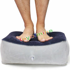 Inflatable Foot Rest Pillow Cushion Travel Home Relax Reduce DVT Risk on Flights