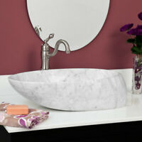 "Signature Hardware 334752 24"" Marble Vessel Bathroom Sink - Carrara Marble"