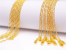 Filled Figaro Chain Necklaces Wholesale 1Pcs 20inch 18K Yellow Gold