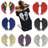 1Pair Decor Iron-On Embroidered Patch Large Angel Wings Applique Motif Sequins H