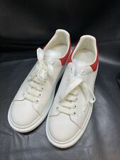 Alexander Mcqueen Mens Oversized Sneakers in White and Lust Red Size 45 (US 11)