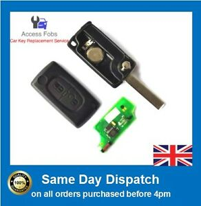 Remote key compatible with Peugeot Citroen 207 307 308 407 2 Button (P02)