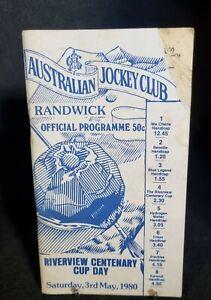 VINTAGE RACE BOOK - RIVERVIEW CENTENARY CUP DAY - 1980 - AUSTRALIAN JOCKEY CLUB