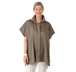 MarlaWynne WynneLayers side tie Shirt olive grey Size X LARGE NEW