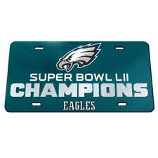 Philadelphia Eagles Acrylic License Plate Mirror Super Bowl Champions