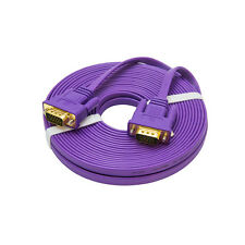DTECH Slim Flat VGA Cable 25 ft 15 pin SVGA Computer Monitor Cord PC Laptop Wire