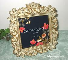 Cynthia Rowley Gold Scroll Picture Frame - 5x5 - Green Wash - NEW