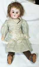 """Antique french 13 """" doll  Shoes Paris Depose crown mark  Leather rare old"""