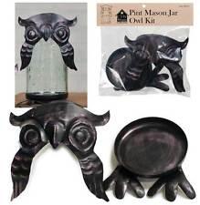 Mason Jar Owl Kit Pint Mason Jar Owl Lid & Base NEW CTW Colonial Tin Works