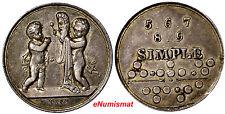 "Germany Brandenburg-Prussia,Friedrich Wilhelm III  ""SIMPLE"" Silver Token 25mm"