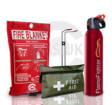 600G FIRE EXTINGUISHER WITH BLANKET &1ST AID KIT FOR HOMES OFFICE KITCHENS WORK
