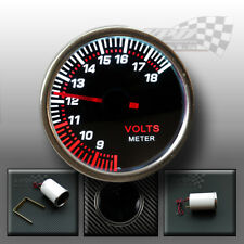 "Volt gauge interior dash instrument panel display white led display 52mm 2"""