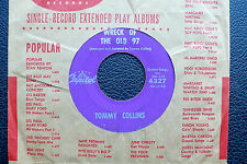 """7"""" Tommy Collins - Wreck Of The Old 97 - US Capitol"""