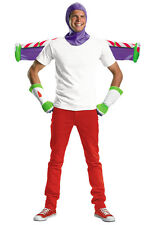 DISNEY TOY STORY BUZZ LIGHTYEAR ADULT COSTUME KIT SET GLOVES HOOD JET PACK 3 PC