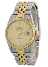 Rolex Oyster Perpetual Datejust 16013 Diamond Dial Mens Watch Box Papers