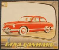 PANHARD DYNA Car Sales Brochure c1954 FRENCH TEXT