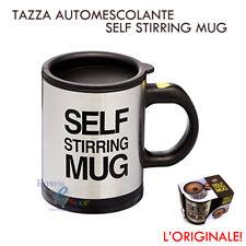 TAZZA AUTOMESCOLANTE SELF STIRRING MUG PER CAPPUCCINO LATTE SCHIUMA CAFFÈ NERA