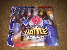 KOFI KINGSTON BIG E BATTLE PACK WWE SIGNED WRESTLING MATTEL ACTION FIGURE TOY