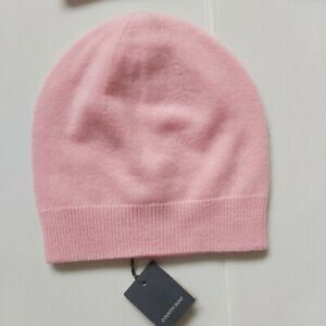 COUNTRY ROAD CASHMERE BEANIE HAT in Pink RRP$99.95 One size