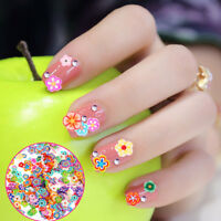 1 Pack DIY 3D Nail Art Designs Fruit Flower Polymer Clay Tiny Stickers Decal Dec