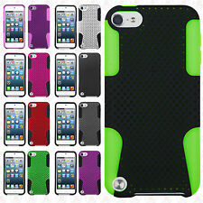 iPod Touch 6 6th Gen MESH Hybrid Silicone Rubber Skin Case Cover +Screen Guard