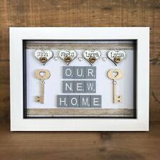 Personalised Box Frame New Home Our First Home - Forever Home - New Home Gift