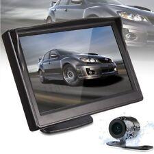 5'' LCD Car Rear View Backup Monitor HD Reverse Parking Camera Kit Night