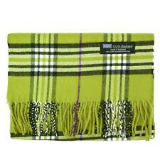 Men Women unisex 100% CASHMERE Scarf tartan stripe Plaid Wool SCOTLAND