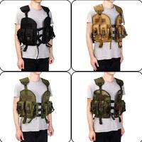 Tactical Vest Waistcoat Paintball Carrier Pouch Combat Assault Molle Game SWAT