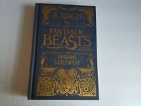 JK Rowling Fantastic Beasts Hardcover Book