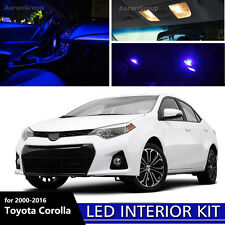 8PCS Blue Interior LED Bulbs 2000 - 2016 Toyota Corolla White for License Plate