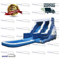 13x33ft Inflatable Slide With Pool Water With Air Blower