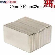 N52 20x10x2mm Neodymium Block Magnet Super Strong Rare Earth Magnets 1 50x Lot