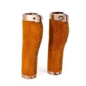 Vintage Genuine Leather Handlebar Grips Mountain Road Bike Bar Grips Bicycle