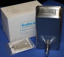 New Bradley Stainless Steel Tank Type Liquid Soap Dispenser 6562 Free Shipping!