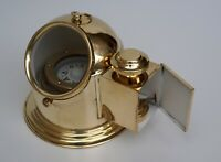 Vintage binnacle gimbal compass shiny brass nautical ship helmet oil lamp gift